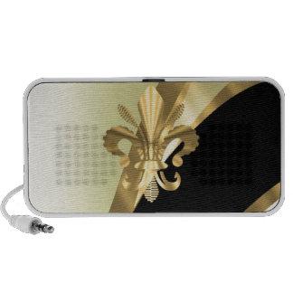 Flor de lis del oro personalizada mini altavoces