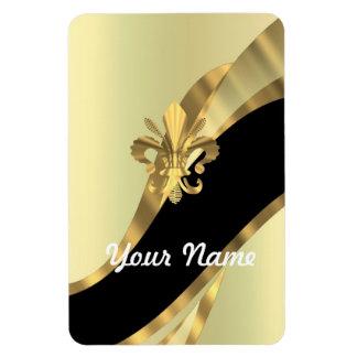 Flor de lis del oro personalizada iman