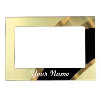 Flor de lis del oro personalizada marcos magneticos