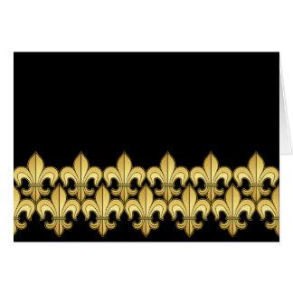Flor de lis del oro tarjeta