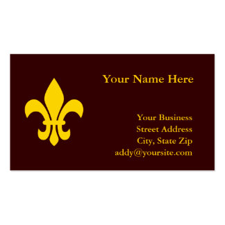 Flor de lis del oro plantilla de tarjeta de visita