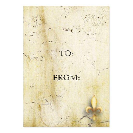 Flor de lis del pergamino tarjetas de visita grandes