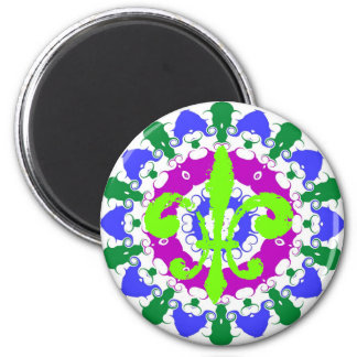 Flor de lis del verde de la muestra del maleficio imanes