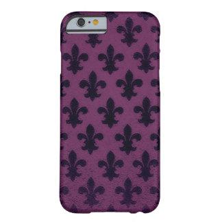 Flor de lis elegante violeta del negocio de la funda para iPhone 6 barely there