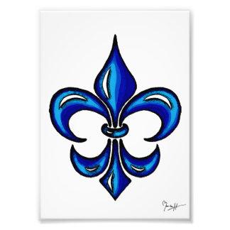 Flor de lis en azul fotografía