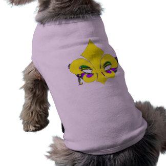 Flor de lis enmascarada camisa de mascota