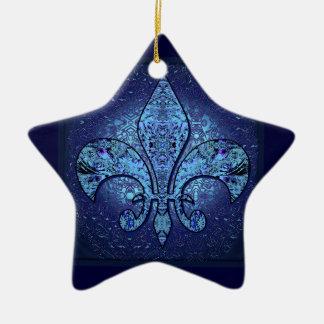 Flor-De-Lis, escudo, flor Adorno Navideño De Cerámica En Forma De Estrella