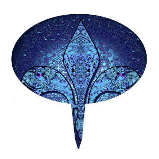 Flor-De-Lis escudo flor Figura Para Tarta