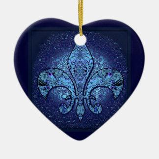Flor-De-Lis, escudo, flor Ornamento De Navidad