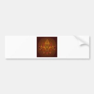 Flor-De-Lis escudo flor-lirio dinástico capa-d Etiqueta De Parachoque