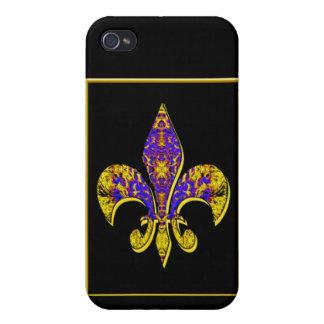 Flor-de-lis, escudo, flor-lirio, dinástico, capa-d iPhone 4/4S fundas