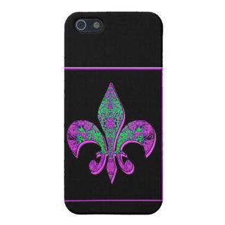 Flor-de-lis, escudo, flor-lirio, dinástico, capa-d iPhone 5 funda