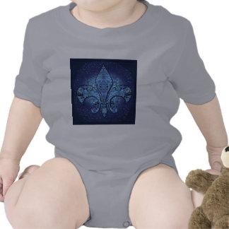 Flor-De-Lis escudo flor Camiseta