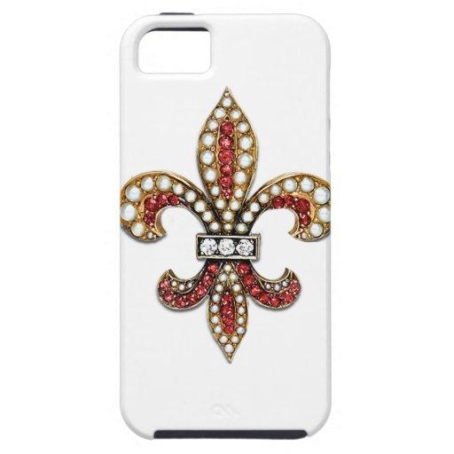 Flor De Lis Fleur De Lis Jewel new orleans iPhone 5 Covers