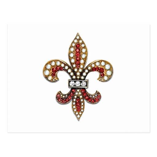 Flor De Lis Fleur De Lis Jewel New Orleans Postcard Zazzle