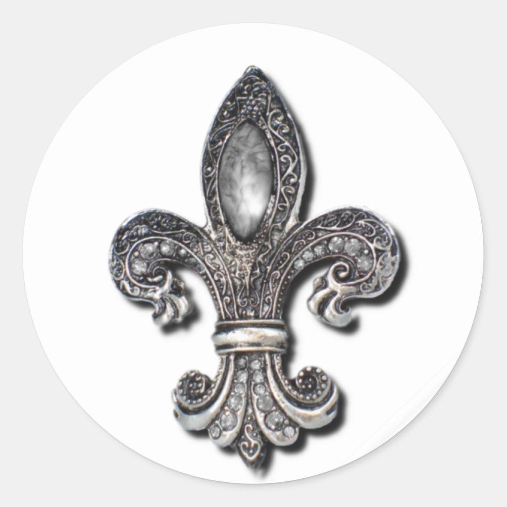 Flor De Lis Fleur De Lis symbol new orleans Round Stickers