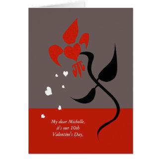 Flor de lis Fleur de Love Valentine Tarjetón