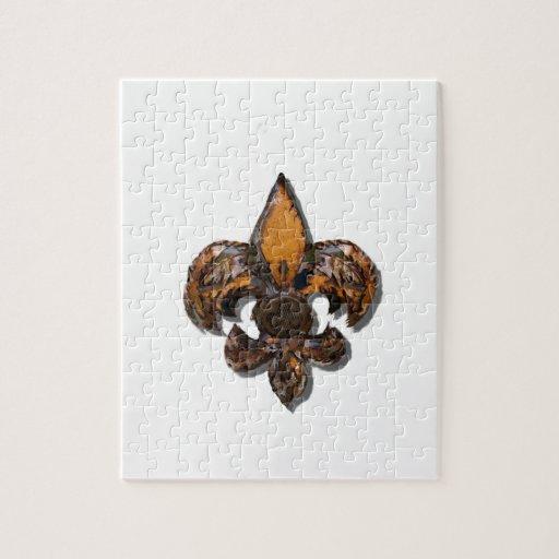 Flor de lis Flor New Orleans rústica Puzzle Con Fotos