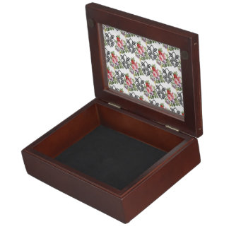 Flor de lis floral francesa cajas de recuerdos