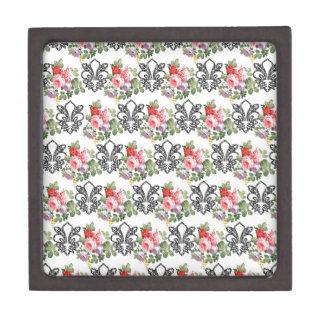 Flor de lis floral francesa caja de regalo de calidad
