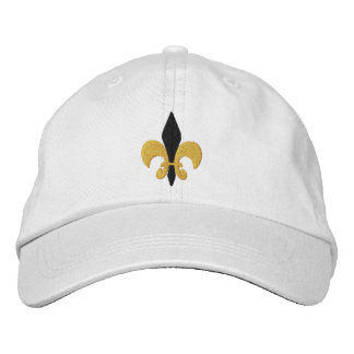 Flor de lis gorra de béisbol bordada