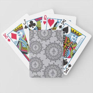Flor de lis gris y de color topo baraja cartas de poker