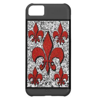 Flor de lis, iphone-5 funda iPhone 5C