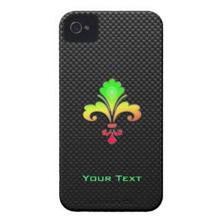 Flor de lis lisa iPhone 4 carcasas