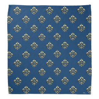 Flor de lis metálica (oro) bandanas