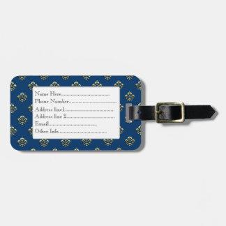Flor de lis metálica (oro) etiquetas bolsas