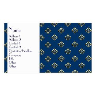 Flor de lis metálica (oro) tarjeta de visita