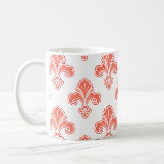 Flor de lis naranja coralino y blanco