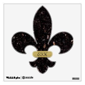 Flor de lis negra del granito vinilo
