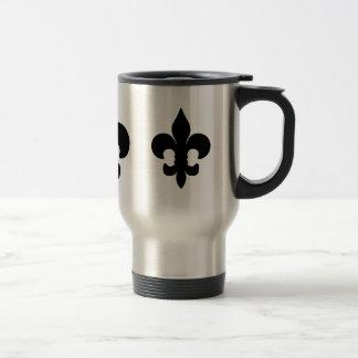 Flor de lis negra estupenda tazas de café