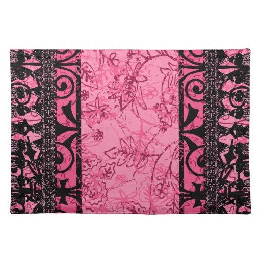 Flor de lis Placemat rosado Mantel