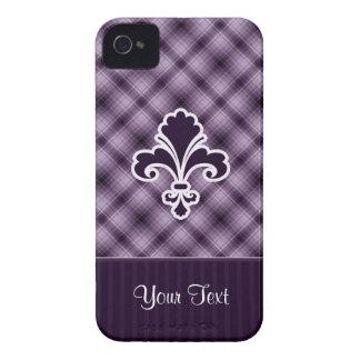 Flor de lis púrpura iPhone 4 Case-Mate funda