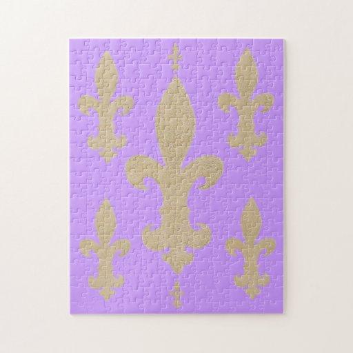 Flor de lis púrpura la segunda puzzle