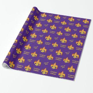 Flor de lis púrpura personalizada de los cangrejos