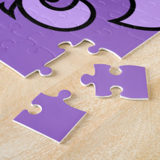 Flor de lis púrpura puzzle con fotos