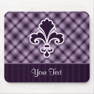 Flor de lis púrpura tapete de ratones