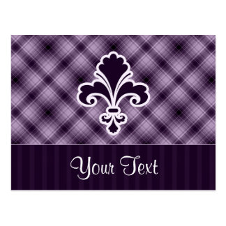 Flor de lis púrpura postales