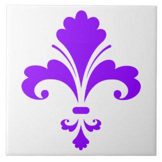 Flor de lis púrpura violeta azulejos ceramicos