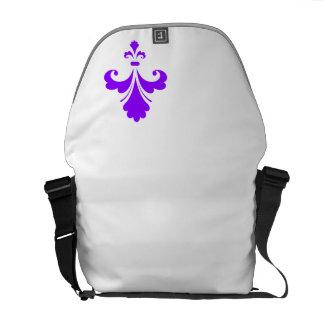 Flor de lis púrpura violeta bolsa messenger