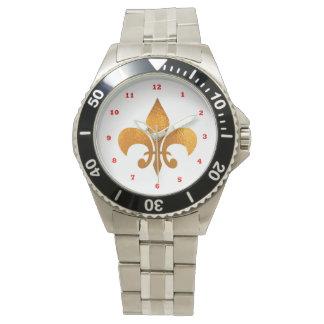 Flor de lis reloj
