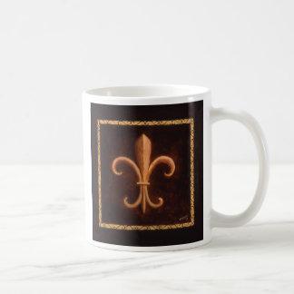 Flor de lis - rey Louis VII Taza De Café