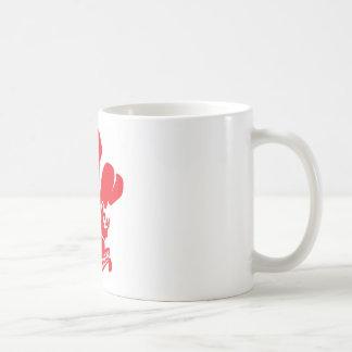 Flor de lis roja taza