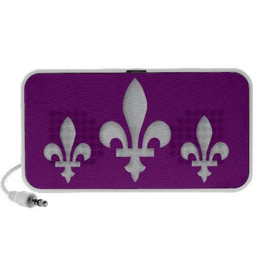 Flor de lis romántica en púrpura - locutor de la m laptop altavoz