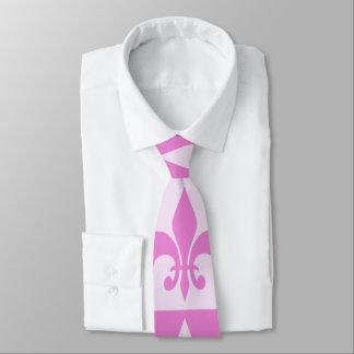 Flor de lis rosada corbata personalizada