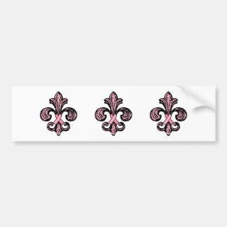 Flor de lis rosada de la cinta pegatina de parachoque