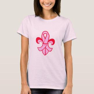 Flor de lis rosada de la cinta playera